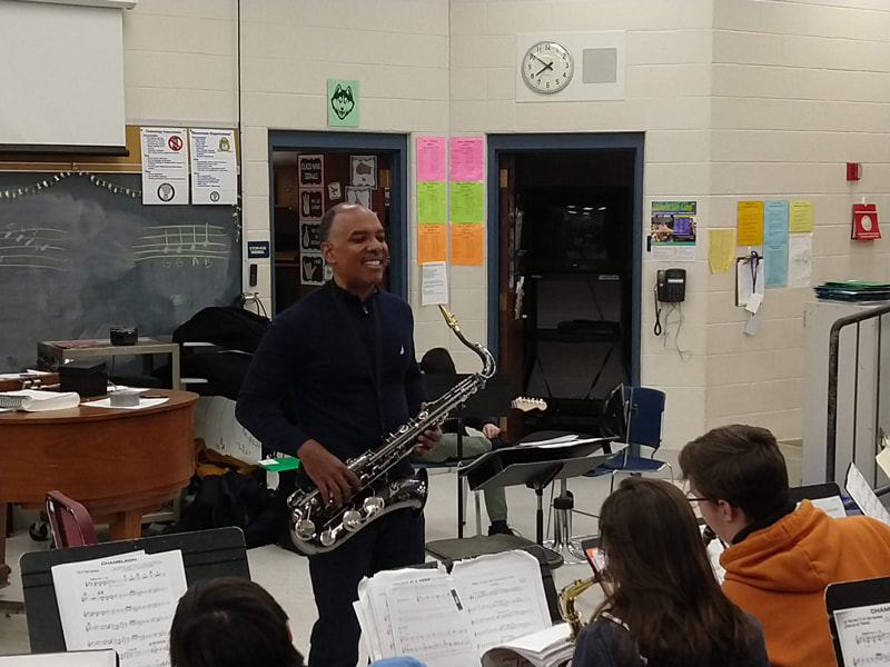 Don Braden at JFK Middle School, February 11, 2019