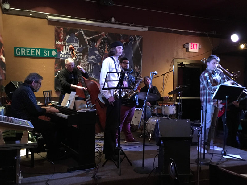 Northampton High School students sit in at the Northampton Jazz Workshop, March 5, 2019